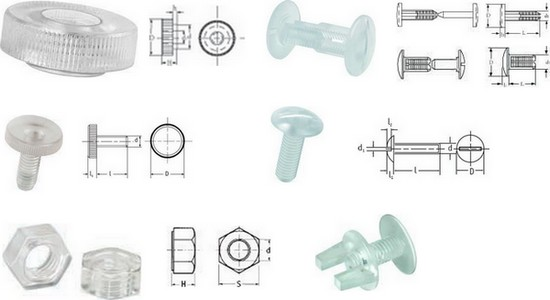 Poly-carbonate Fasteners